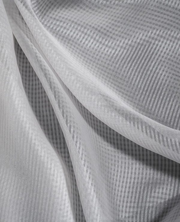 Check Light Jacquard Silk Weave -0