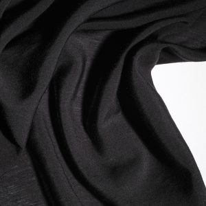 Linen- light garment weight, black. 134 cm wide-0