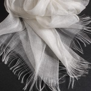 Super gauze - Floating linen silk scarf 2200mm x 700mm (SC03)-0