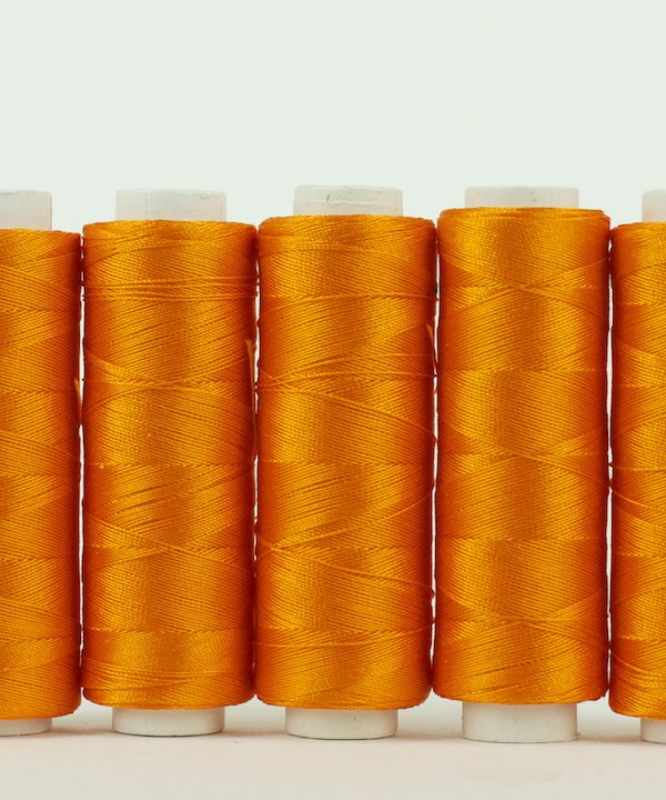 Orange silk thread 200 yrd-0
