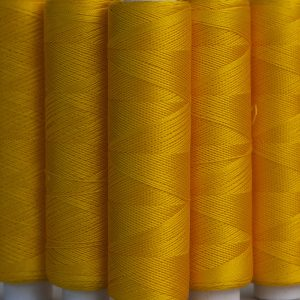 Pure silk sewing machine thread Gold colour-0