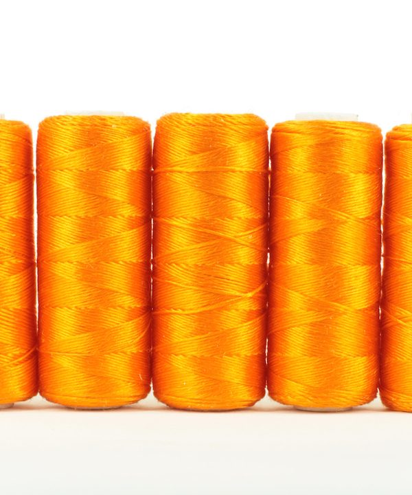 Pure silk filament thread, Orange-0