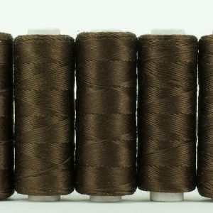 Pure silk filament thread, Brown-0