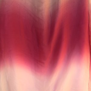 Pure silk tissue red tones, shade dyed 2.5 mtr length-0