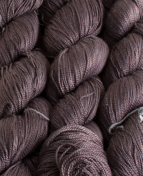 Pure Silk Thread Rose leaf and iron Dyed 50gr Hank-0