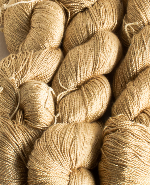 Pure silk Neem leaf Dyed 50gr hank-0