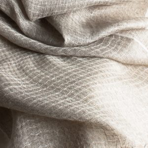 Waffle - Textured weave natural linen scarf 2000mmx500mm-0
