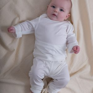 Pure silk knit hypoallergenic baby leggings-0