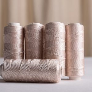 Pure silk sewing thread 200 yards beige-0