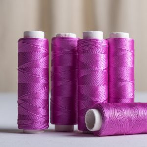 Pure silk sewing thread 200 yards Bright magenta-0