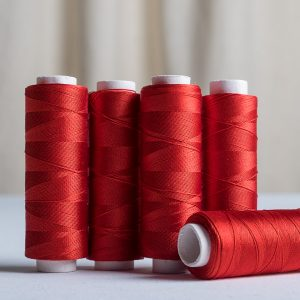 True Red silk sewing thread 200 yards-0