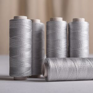 Silk sewing thread 200 yards, Aluminium colour-0