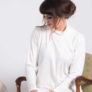 Pure Silk knit jersey skivvy-0
