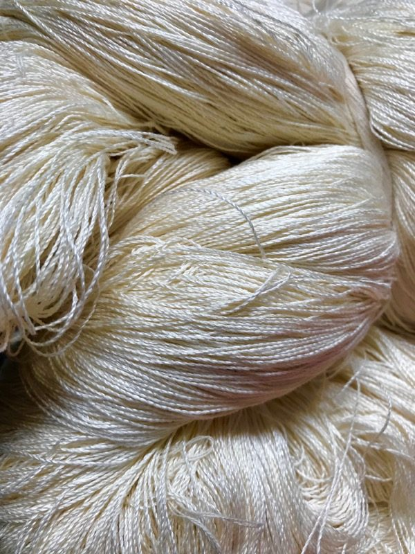 Cotton 70% Silk 30% slow stitch thread 30 gram hank-0