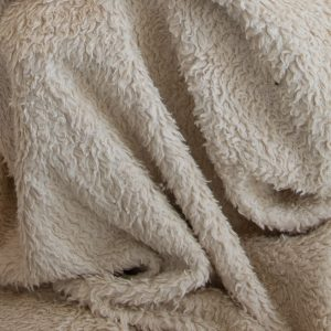 2 meter lengths Organic Cotton Sherpa fur on special, out it goes, it is flawed - -0