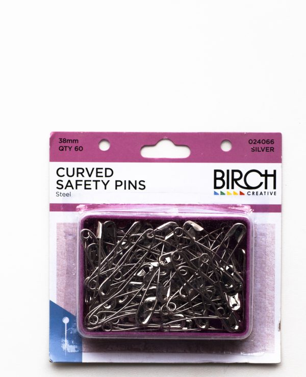 Box of 38mm curved quilter's safety pins-700