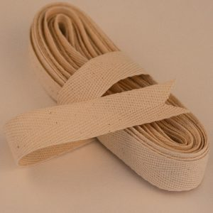 Organic cotton woven tape 20mm width 1 x 5 mtr bundle-0