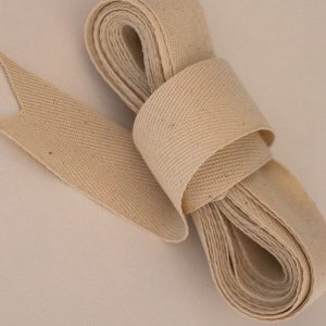 Organic cotton woven tape 35mm width 1 x 5 mtr bundle-0