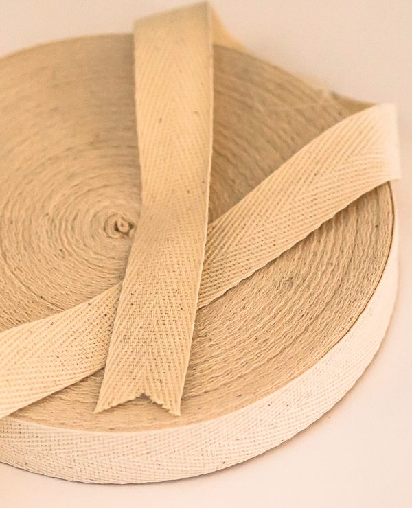 25 mtr roll of 20 mm of woven organic cotton tape -0