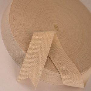 25 mtr roll of 35 mm woven organic cotton tape -0