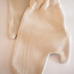 Gharshana pure silk massage gloves, one pair. -0