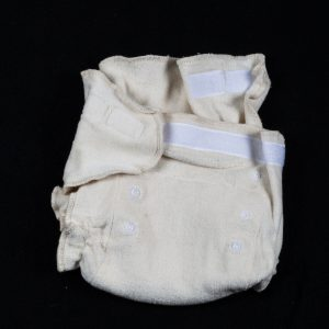 Adjustable size highly absorbent organic knit cotton nappy.-0