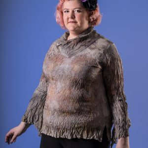 'Throw down your irons' multi size silk top naturally dyed-0