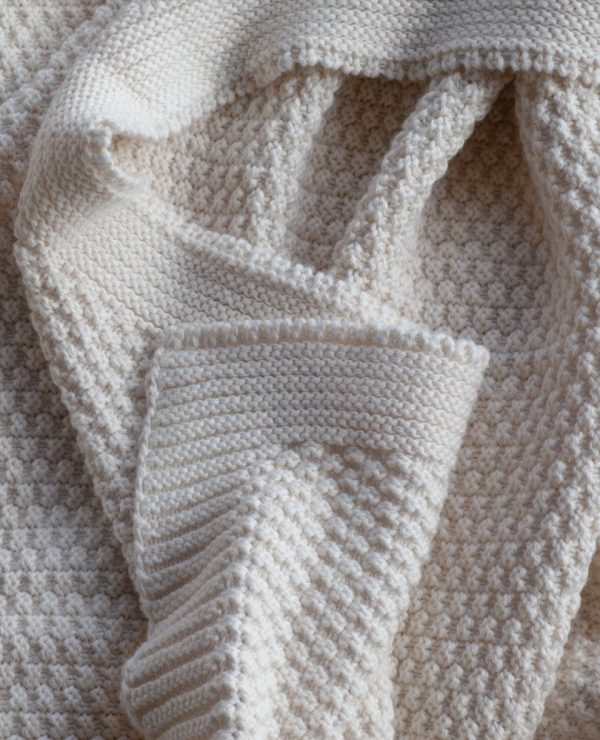 'Kate' -Knitted organic cotton throw - 1.8 x 1.2 meter-813