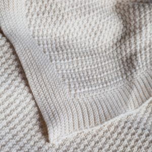 'Kate' -Knitted organic cotton throw - 1.8 x 1.2 meter-0