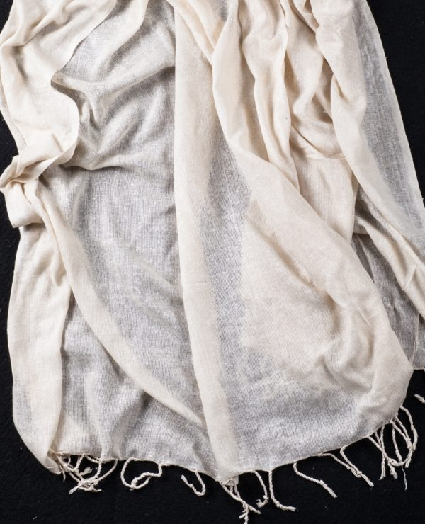 Ahimsa Light pure silk noil gauze large wrap or throw (Marion)-803