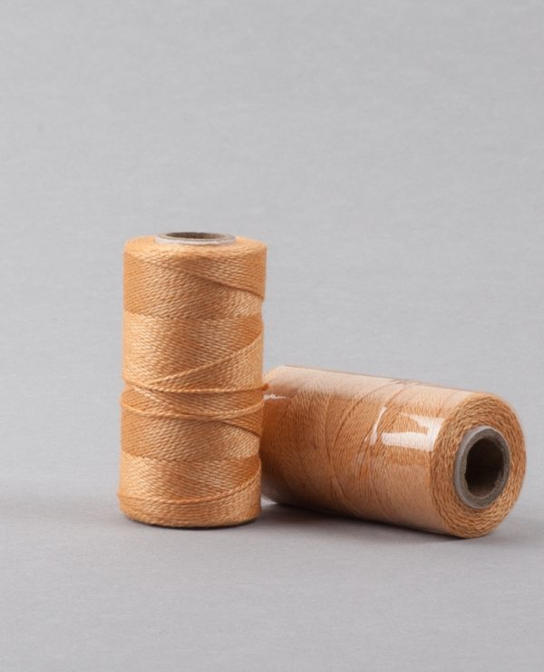 Herbal dyed silk stitching thread, deep peach colour-0