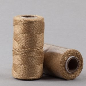 Herbal dyed silk stitching thread, warm coffee colour-0