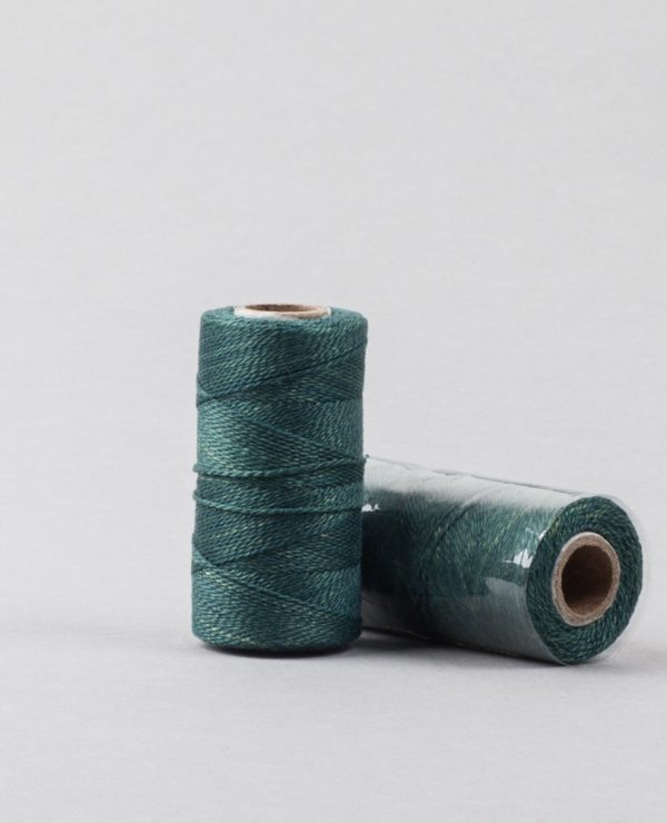 Herbal dyed silk stitching thread, deep green-0