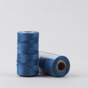 Herbal dyed silk stitching thread, light indigo colour-0
