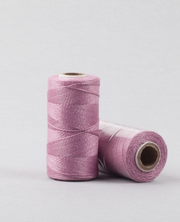Herbal dyed silk stitching thread, dyed with lac-0