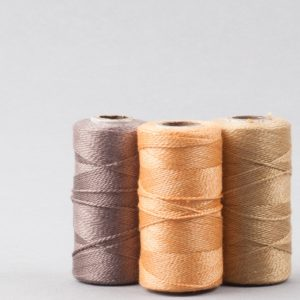 3 gorgeous warm herbally dyed reels of pure silk thread-0