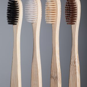 Set of four bamboo toothbrushes-0