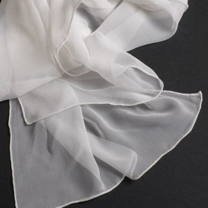 Silk 8 momie georgette Scarf 3000mm x 600mm -0