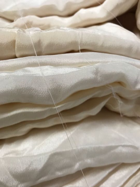 Approximately 3 meter length of silk crepe de chine - seconds for eco dyers-0