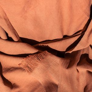 Raw Silk noil 100% silk wrap naturally dyed with Petrocarpus marsupium 2500mmx1200mm-0